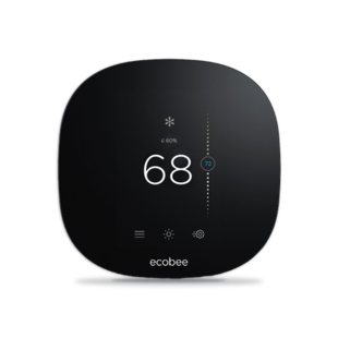 ecobee smart thermostat set to 72 degrees